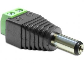 DeLock Adapter DC 5.5 x 2.5 mm male > Terminal Block 2 pin